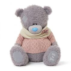 Me to You Pink Knit Jumper Snood Large Soft Plush Bear Tatty Teddy Tatty Teddy, Blue Nose Friends, House Mouse, Big Hugs, Everything Baby, Online Gifts, Friends Forever, Arts And Crafts, Knitting