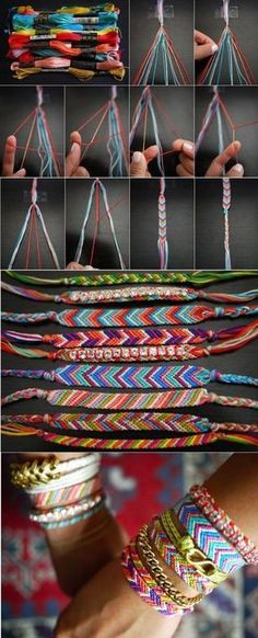 DIY Friendship Bracelet DIY your Christmas gifts this year with GLAMULET. they are compatible with Pandora bracelets. DIY friendship bracelets only because I have a ton of embroidery floss. The post DIY Friendship Bracelet appeared first on Schmuck ideen. Diy Bracelets Easy, Bracelet Crafts, Jewelry Crafts, Macrame Bracelets, Knit Bracelet, Bracelet Box, Ankle Bracelets, String Bracelets, Braided Bracelets