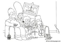 the simpsons free coloring page 05