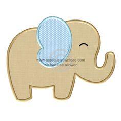 Big Elephant Applique