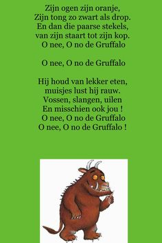 Liedje: De Gruffalo: The Gruffalo Song, Gruffalo Activities, Monster Co, Poetry Projects, Dinosaurs Preschool, Poetry For Kids, School Themes, Nature Quotes, Stories For Kids