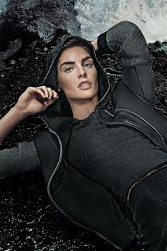 Hilary Rhoda in an Elie Tahari ad. [Photo By Steven Klein]