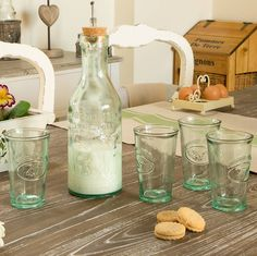 French Milk Bottle Or Glass Glass Vase, Cow, Wedding Day, Milk, Ceramics, French Style, Interesting Stuff, Bottle, Tableware