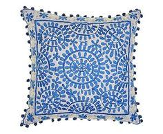 Bombay Duck - Kissen Souk, blau, 40 x 40 cm