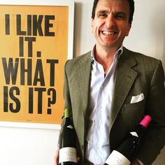 """This is Stefano Papetti of @de_fermo in Loreto Aprutino Abruzzo. He says """"I do not want to be """"the best"""" or aim for a """"result"""" I want to make a wine that comes from this place"""". His rosé is named Le Cince after the birds that are symbols of happiness. #wine #winesource #abruzzo #montepulciano #pecorino #oldvines #naturalwine #biodynamic #italy #ilikeitwhatisit"""