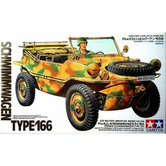 Buy Schwimmwagen Type 166 - Model Kit at Mighty Ape NZ. Tamiya Schwimmwagen Type 166 – Model Kit The Volkswagen Beetle, which has been called a German national car, was conceived and designed in 1938 . Tamiya Model Kits, Tamiya Models, Panzer Iv, Army Vehicles, Armored Vehicles, Plastic Model Kits, Plastic Models, Maquette Tamiya, Wooden Ship Model Kits