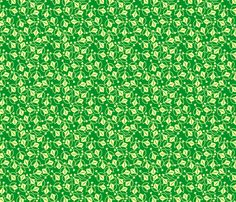 Young Buds on Green fabric by siya on Spoonflower - custom fabric
