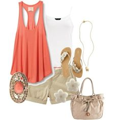 Tan&Coral. by cheryl.cook.3576