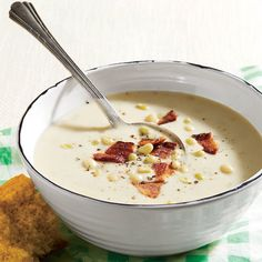 Buttermilk Lady Pea Soup with Bacon