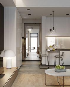 Small Apartment Design, Condo Design, Apartment Interior Design, House Design, Small Space Living, Small Spaces, Small Appartment, Condo Living Room, Beautiful Interiors
