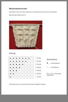 Sockenmuster - Home Decor Wholesalers Lace Knitting, Knitting Stitches, Knitting Socks, Knitting Patterns Free, Knit Patterns, Crochet Baby, Free Crochet, String Bag, Knitted Blankets