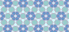 A coloured pattern based on the sub-grid