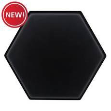 New! Obsidian 4 in. Hexagon Ceramic Tile White Porcelain Tile, Ceramic Floor Tiles, Wood Tiles Design, Stone Look Tile, Outdoor Stone, Glass Tile Backsplash, Painting Concrete, House Tiles