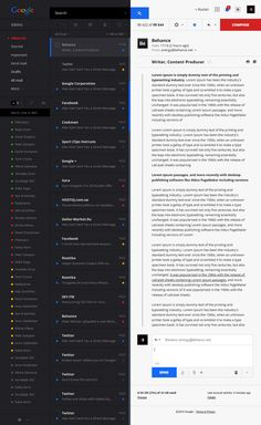 Unofficial Gmail redesign concept by Ruslan Aliev, a web designer from Simferopol, Ukraine.