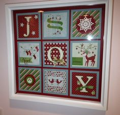 A Joy Frame by gails - Cards and Paper Crafts at Splitcoaststampers