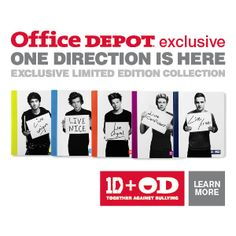 One Direction School Supplies: Every purchase supports charity.
