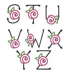 FLORES Y LETRAS PARA DECOUPAGE (pág. 3) | Aprender manualidades es facilisimo.com Cute Fonts Alphabet, Hand Lettering Alphabet, Doodle Lettering, Creative Lettering, Lettering Styles, Graffiti Lettering, Bullet Journal Font, Journal Fonts, Alphabet Drawing