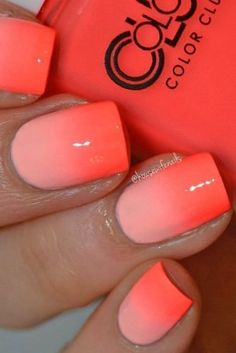 This double shade ombre nail art is simple to achieve, yet looks as though hours were spent during the creation process!  #summernails #nailart