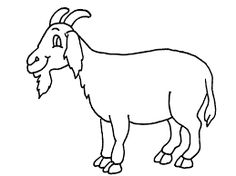 Free Printable Goat Coloring Pages For Pre School