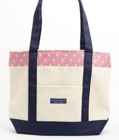 Vineyard Vines Alpha Delta Pi Classic Tote #vineyardvines @Alpha Delta Pi #adpi (i love this, but i wish it was more azure blue and less pink)