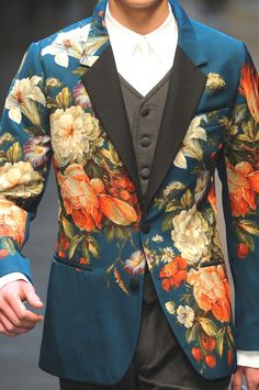 Dolce & Gabbana F/W 2013/14 - I know it's menswear, but I love the colors and floral design. Would love to see a women's version.