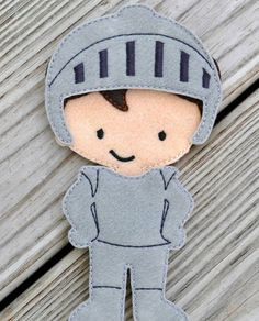 """Personalized felt """"non-paper"""" dolls complete with outfit changes. Only $15 on Etsy!"""
