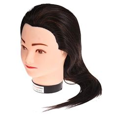 Leewa Mannequin Head Hair Synthetic Cosmetology Mannequin Manikin Training Head Model - 55cm Hair Length - Black * Read more  at the image link.