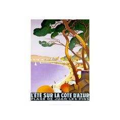 L'Ete sur la Cote d'azur Wall Art Print ($23) ❤ liked on Polyvore featuring home, home decor, wall art, browse france, europe, european nations, france, subjects, travel and world regions