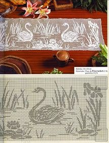 crochet kingdom (E.H): Swan .. symbol & a mascot of love and fidelity !
