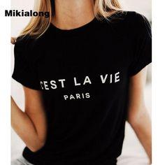 f97de657969 Women s Tops T Shirt Cotton Women 2018 Summer T-Shirt Short Sleeve Top Tee  Shirt Femme Paris Printed Tshirts