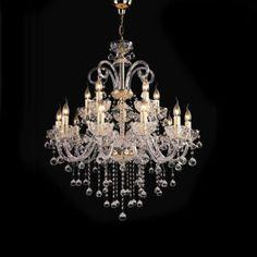 European Prefect Design Chandelier Light on Made-in-China.com Crystal Chandelier Lighting, Lighting Manufacturers, Room Lamp, Brass Color, Interior Lighting, Glass Pendants, Light Decorations, Pendant Lamp, Simple Designs