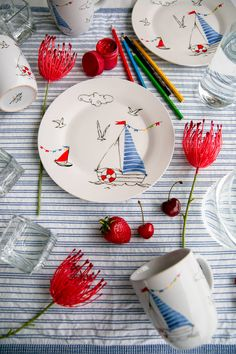 "Фарфоровая тарелка ""Кораблик"" в магазине «ГЛАВНЫЙ ПО ТАРЕЛОЧКАМ» на Ламбада-маркете Gifts For Boys, Coasters, Coaster"
