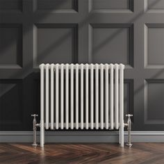 Are you looking for a heating solution that will stand the test of time? Do you need something traditional with a modern vibe and contemporary capabilities? The Butler & Rose Horizontal Designer White Column Radiator is what you're looking for! Horizontal Radiators, Column Radiators, Traditional Radiators, Small Kitchen Sink, Bathroom Radiators, Central Heating Radiators, Shower Fittings, Radiator Valves, Designer Radiator