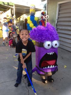 Purple Minion piñata!