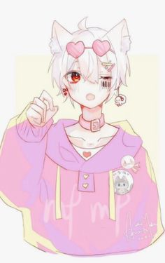 Anime Neko, Kawaii Anime Girl, Manga Kawaii, Kawaii Art, Anime Art Girl, Anime Boys, Cute Anime Guys, Neko Boy, Anime Style