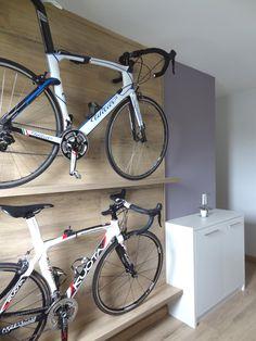Prateleiras para bicicleta: ideia para guardar as bikes dentro de casa. Bike storage.