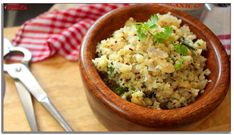 Breakfast doesn't have to just be bacon and eggs. Kick start your day with Keto Upma, a spicy Indian breakfast dish. Vegetarian and Keto Lunch Recipes Indian, Diet Dinner Recipes, Vegetarian Breakfast Recipes, Vegetarian Keto, Breakfast Dishes, Keto Dinner, Keto Recipes, Dessert Recipes, Bacon Breakfast