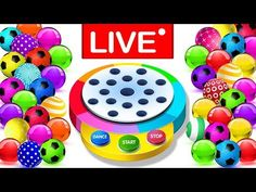 Learn Colors With Dancing Balls Finger Family Songs MEGA COLLECTION by KidsCamp - LIVE STREAMING - YouTube