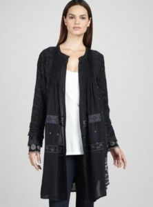 Johnny Was Plus Size Embroidered Coat