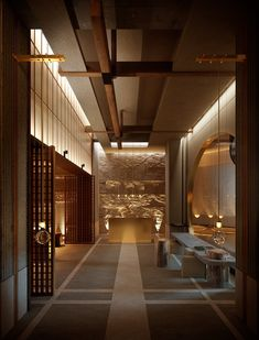 Spa Design, Spa Interior Design, House Design, Shop Lighting, Interior Lighting, Spa Lounge, Japanese Interior, Chinese Interior, Japanese Design
