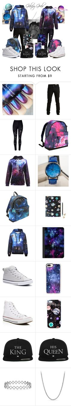 """""""046 Space Lovers"""" by berry2206 on Polyvore featuring SELECTED, WithChic, Hot Tuna, Nikki Strange, Casetify, Converse und David Yurman"""