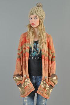 Ralph Lauren Vtg Indian Navajo Country Knit Cardigan Blanket ...