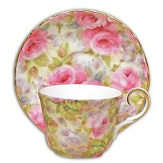 Lady Diana Chintz Fine Bone China - Cup and Saucer - Set of 4