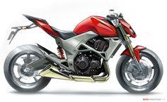 Kawasaki Z1000 Design Sketch