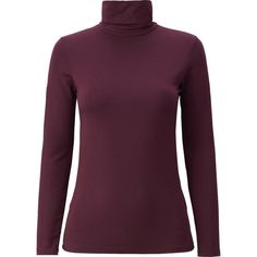 WOMEN HEATTECH EXTRA WARM TURTLENECK T-SHIRT in black and wine size L