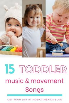 Sing, Clap, Stomp, Shake and Play Musical Instruments! Music For Toddlers, Learning Toys For Toddlers, Toddler Learning, Preschool Learning, Preschool Music, Teaching, Physical Activities For Kids, Movement Activities, Music Activities