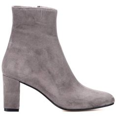 Maryam Nassir Zadeh Agnes Suede Ankle Boots ($465) ❤ liked on Polyvore featuring shoes, boots, ankle booties, suede booties, grey boots, short suede boots, grey suede booties and suede bootie