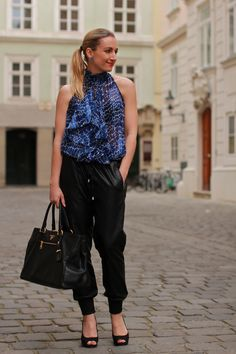 pants - Forever 21 / top - Mango / shoes - Humanic / bag - Prada by Designer Outlet Parndorf / earrings - Majolie Mango Shoes, Faux Leather Pants, Prada, Forever 21, Printed, Bag, Earrings, Fashion Trends, Outfits