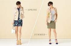 I love the trench vest pictured here with the lace-up heel/ flat.