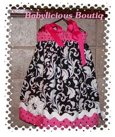 Girls Pillowcase Dress Infant toddler polka by BabyLiciousBoutiqu, $19.99
